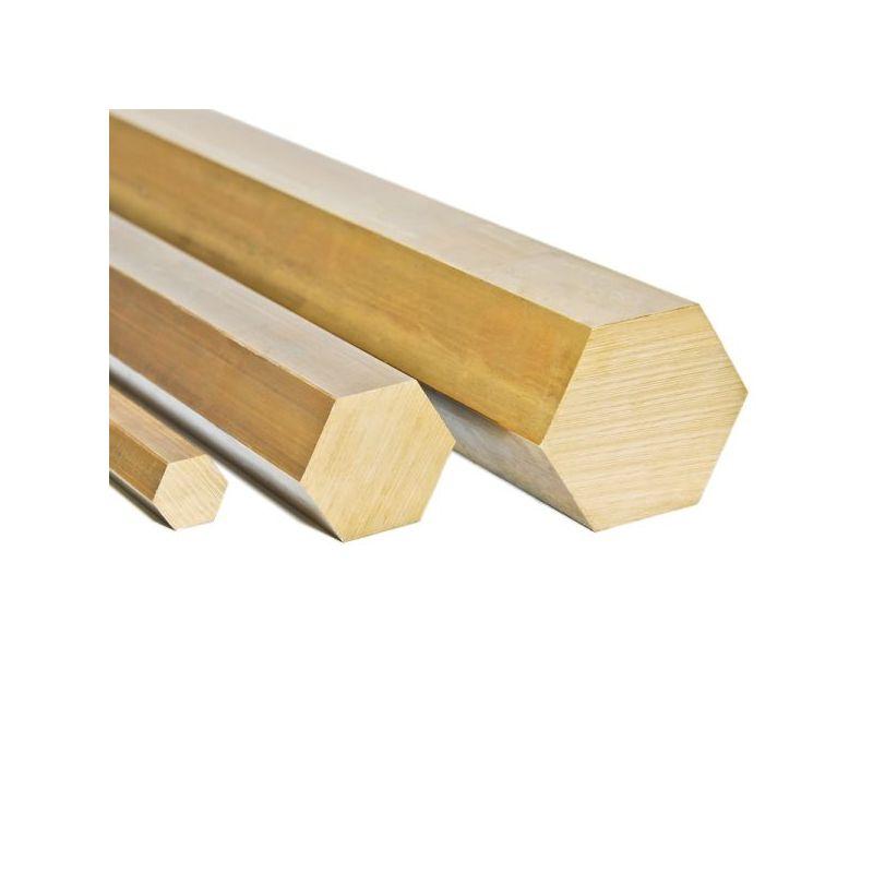 Messing Ø4mm-27mm sekskant 2.0401 sekskantstang Ms58 stang 6-punkts Ms massiv måtte, messing