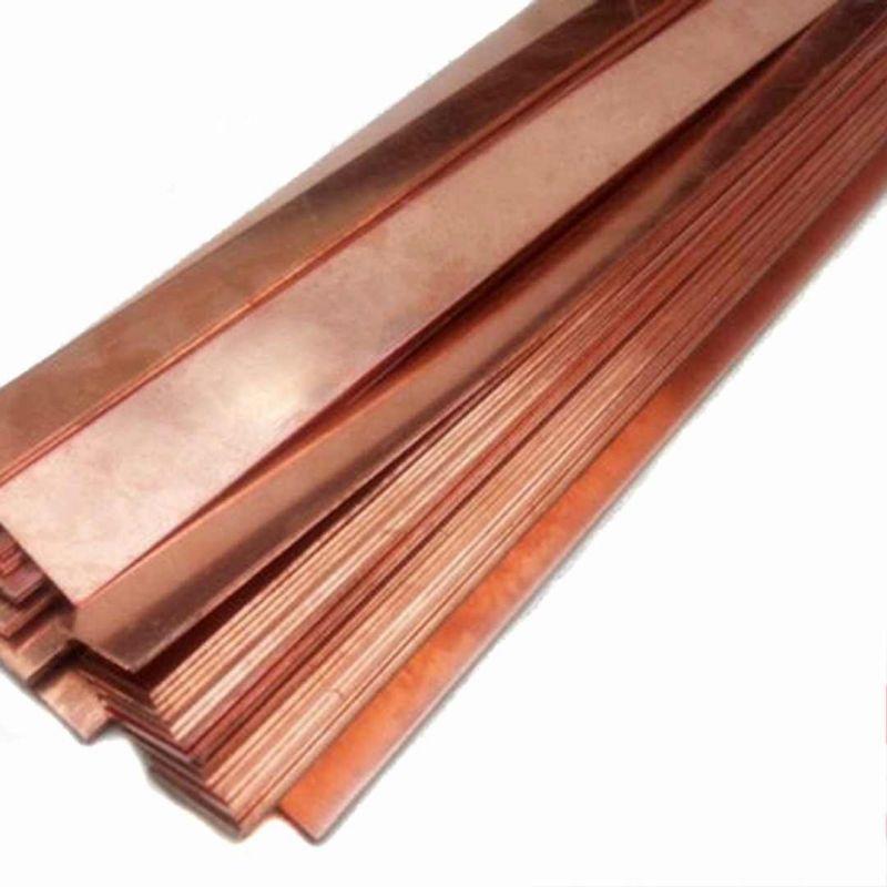 Kobber 99,9% ren anodearkplade 10x200x50-10x200x1000mm rå elektropletteringselektrode,  kobber