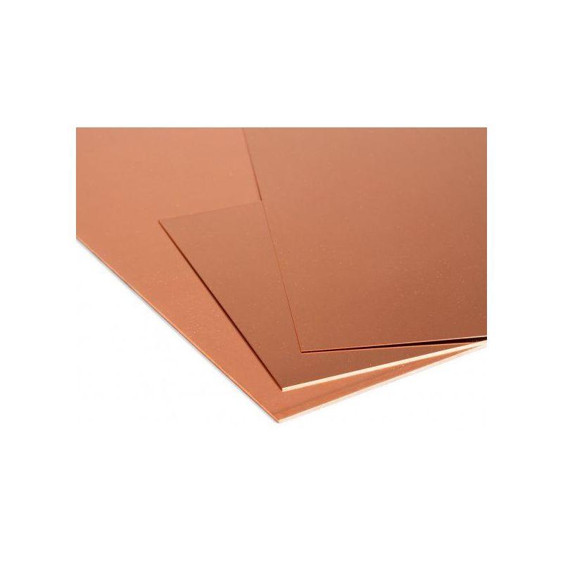 Kobberplade 1mm plader Cu ark tynd plade valgbar 100 mm til 2000 mm kobber