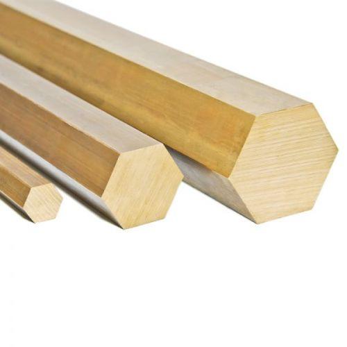 Messing sekskant Ø9mm 2.0401 CuZn33Pb3 Ms58 stang Sekskant sekskant stang, messing