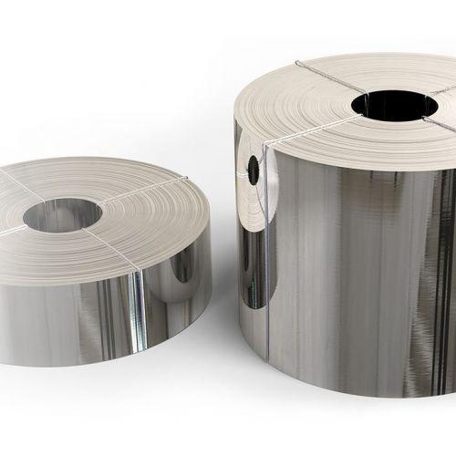 Rustfrit stålbånd 1.4301 folie 0,05x20 mm til 0,4 x 200 mm V2A 304 metalplade