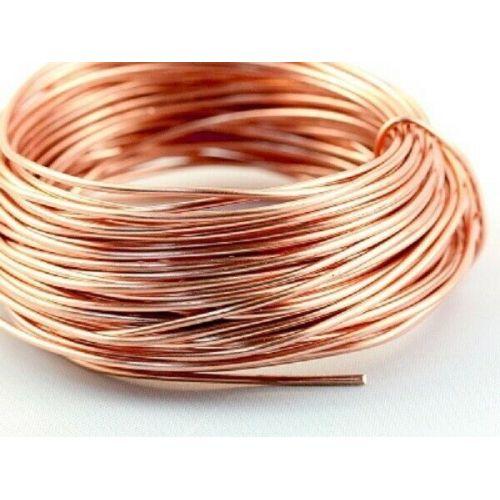 Kobbertråd blank Ø0,1-5mm uden lak ubestrøget Cu 99 håndværkstråd 2-750 meter