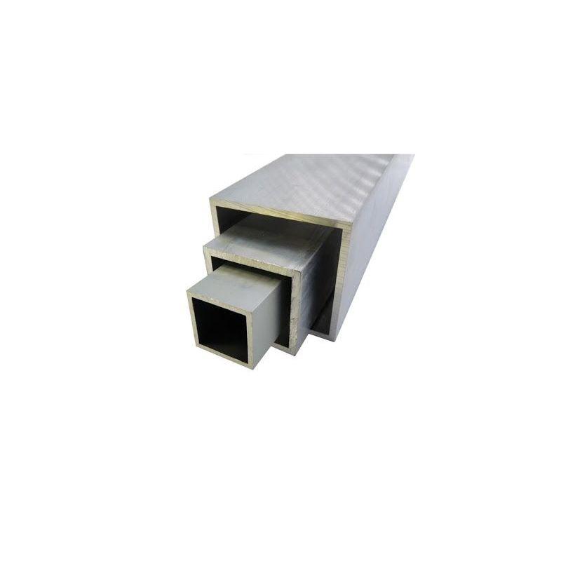 Firkantrør i aluminium 20x20x2-100x100x4mm AlMgSi0.5 firkantrør 0,2-2 meter