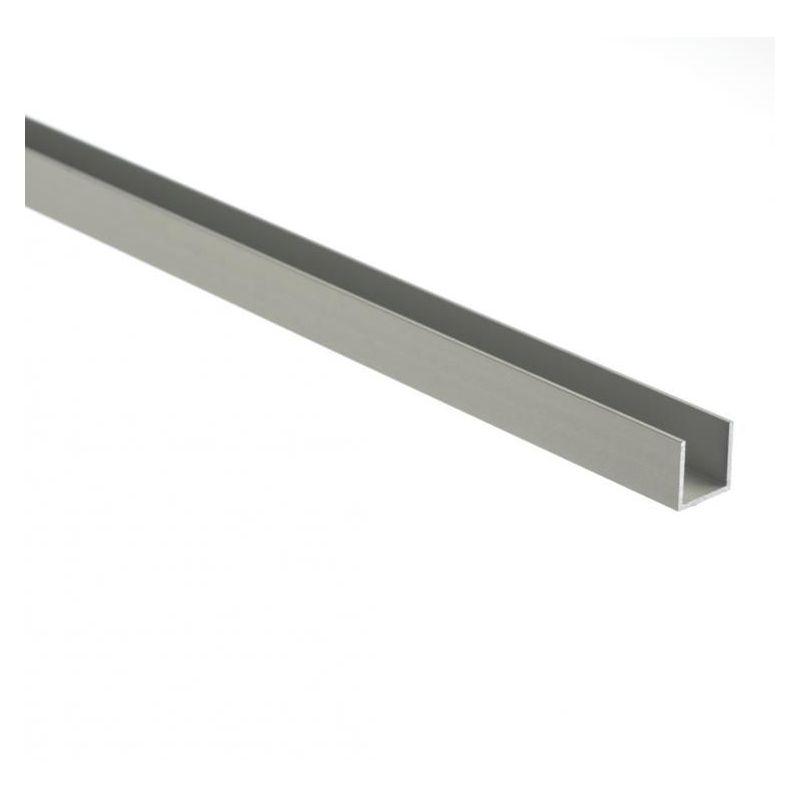 Aluminium U-profil ligebenede 30x20x2mm-80x20x2mm aluminiumvinkel