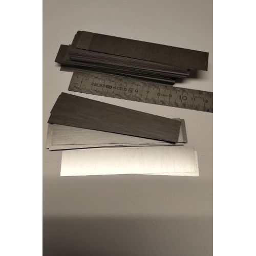 Wolfram 99% element 74 Ren metalstrimler Wolframstrimler 0,2x20x104mm
