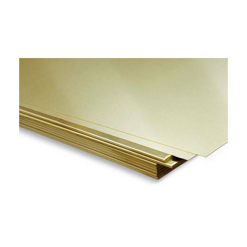 Messingsark 2 mm plader arkark tyndt ark, der kan vælges 100 mm til 2000 mm