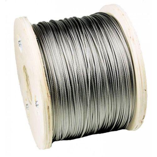 Rustfrit ståltråd dia 1-8mm 1.4406 V4A 5-250 meter 7x7 og 7x19 ståltov