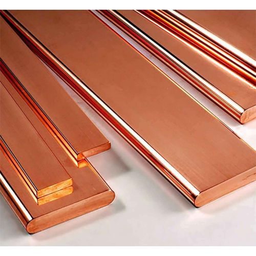 Kobberfladestang 30x2mm-90x12mm strimler af metalplader skåret til 0,5 meter