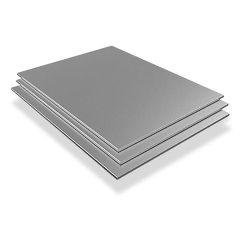Rustfrit stålplade 10mm V4A 1.4571 Plader Ark skæres 100 mm til 2000 mm