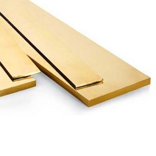 Flad stang i messing 30x2mm-90x12mm strimler af metalplader skåret til 0,5 meter