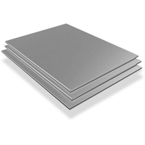 Rustfri stålplade 4mm-6mm V4A Wnr. 1.4571 ark ark skåret til størrelse 100 mm til 1000 mm