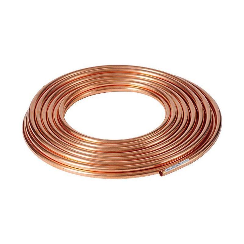 Kobberrør 3x0.5mm-4x1mm blød udglødet i ringvandet OIL GAS-opvarmning 1-50 meter,  kobber