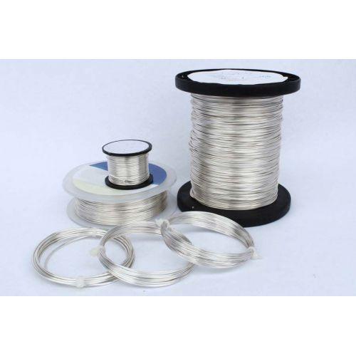 2-100 meter kobbertråd, sølvtråd, håndværkstråd, smykker, forsølvet Ø0.5-1.2mm, kobber